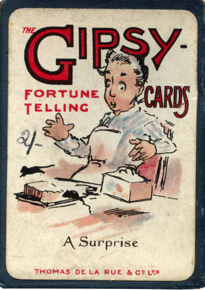 """Box from the """"Gipsy"""" fortune-telling cards published by Thomas de la Rue & Co Ltd., c.1910"""