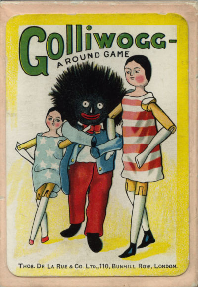 "Box from the ""Golliwogg"" card game illustrated by Florence Kate Upton (1873-1922) and published by Thos de la Rue & Co, c.1902"