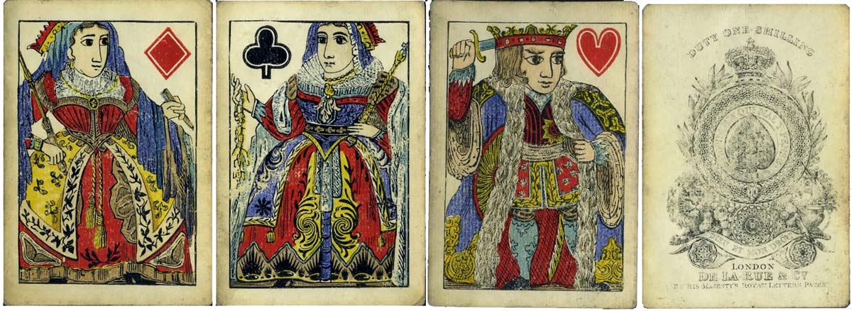 De la Rue's earliest pack of playing cards c.1832
