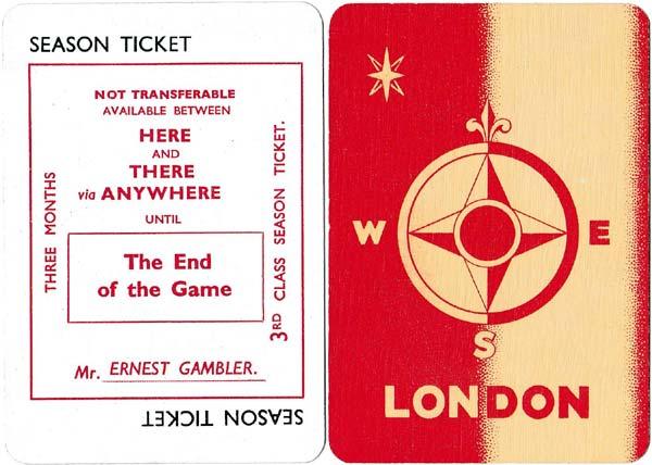 Lobo, the London Underground card game published by Thomas De la Rue & Co Ltd, 1930s