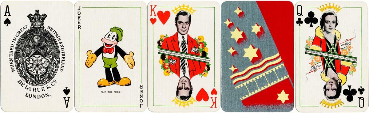 Film Star Playing Cards by Thomas de la Rue & Co., Ltd for Metro-Goldwyn-Mayer