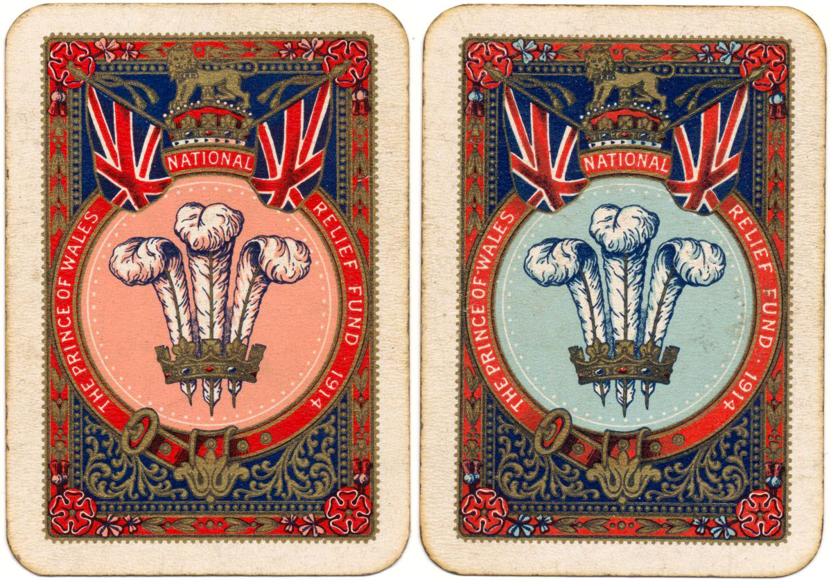 A two-pack patience set produced by Thomas De la Rue on behalf of the Prince of Wales National Relief Fund in 1914