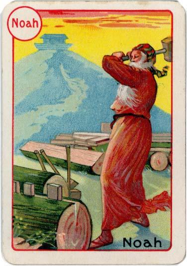 Noah from De la Rue's Noah's Ark card game, c.1905