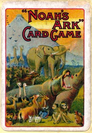 Box from De la Rue's Noah's Ark card game, c.1905
