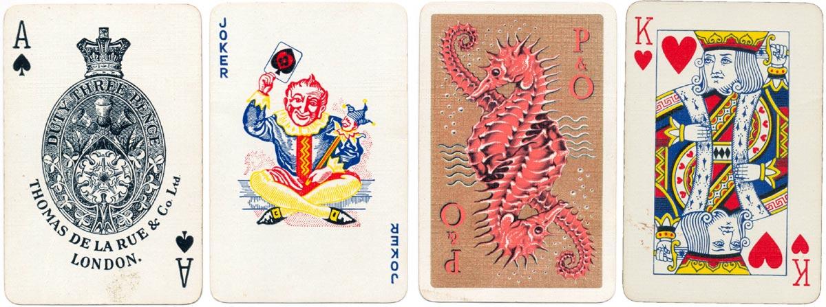De la Rue's standard ace of spades with the new coloured joker, c.1955