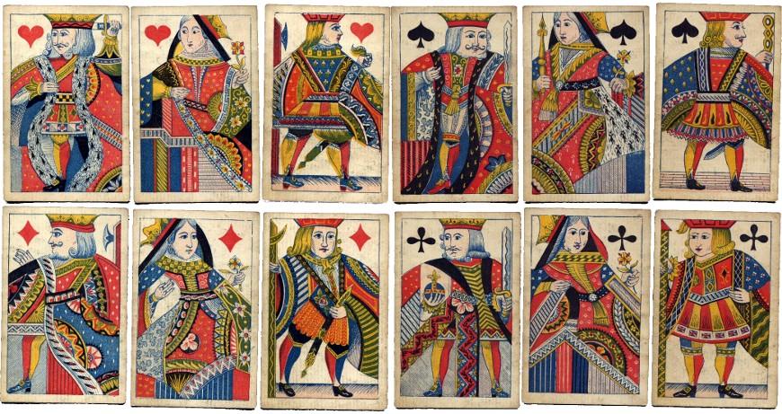 De la Rue's new decorated court card designs, c.1840-65