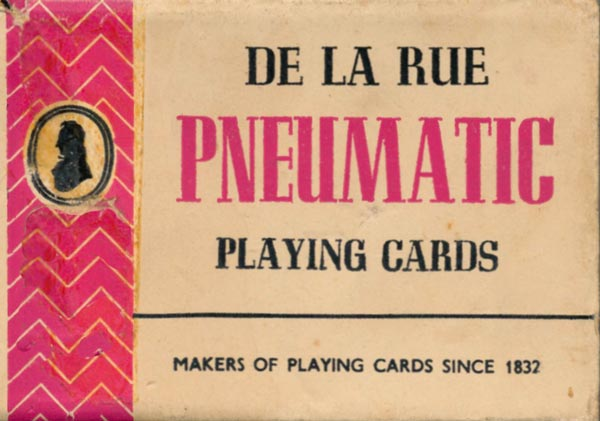 Pneumatic playing cards, c.1960-65