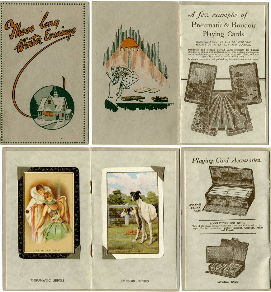 publicity leaflet for Pneumatic and Boudoir playing cards, c.1930