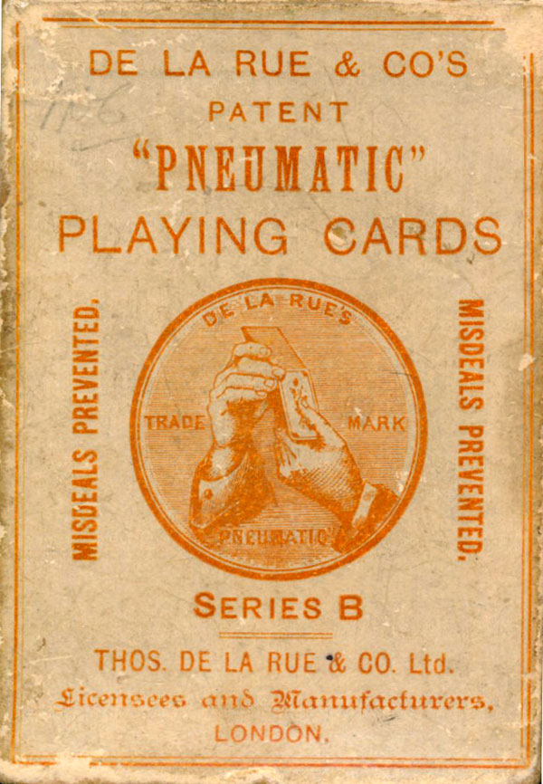 De la Rue's Pneumatic Playing Cards Series B box