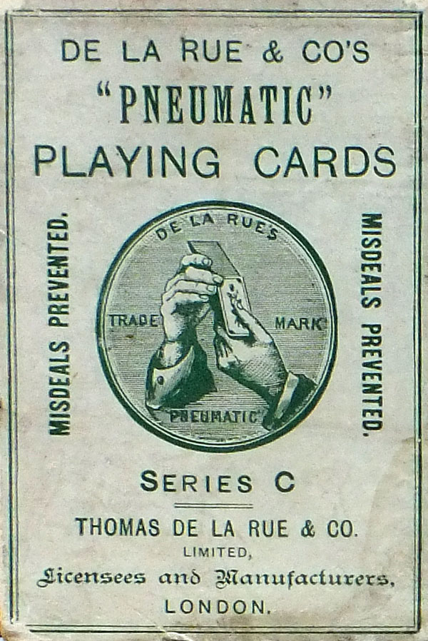 De la Rue 'Pneumatic' playing cards Series 'C', c.1920
