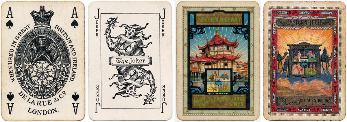 De la Rue Pneumatic Series 'F' playing cards, c.1925