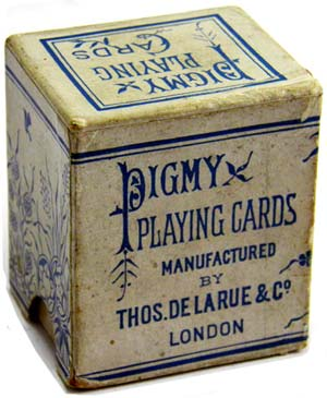 Pigmy playing cards with 'Dexter' indices, c.1890