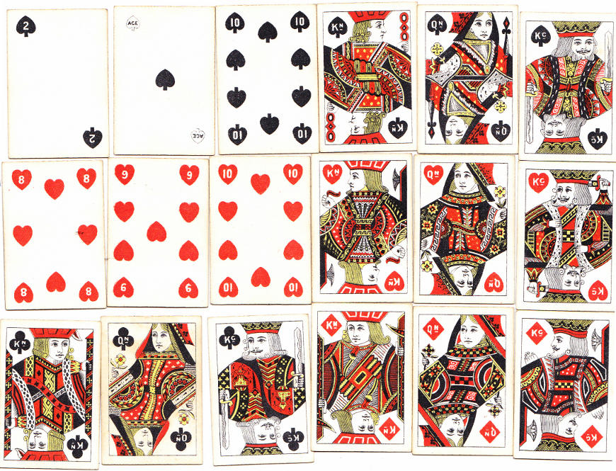 'Pigmy' miniature playing cards manufactured by Thomas De la Rue, c.1890
