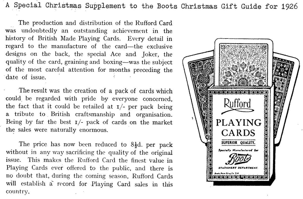 detail from Special Christmas Supplement to Boots the Chemist Christmas Gift Guide for 1926