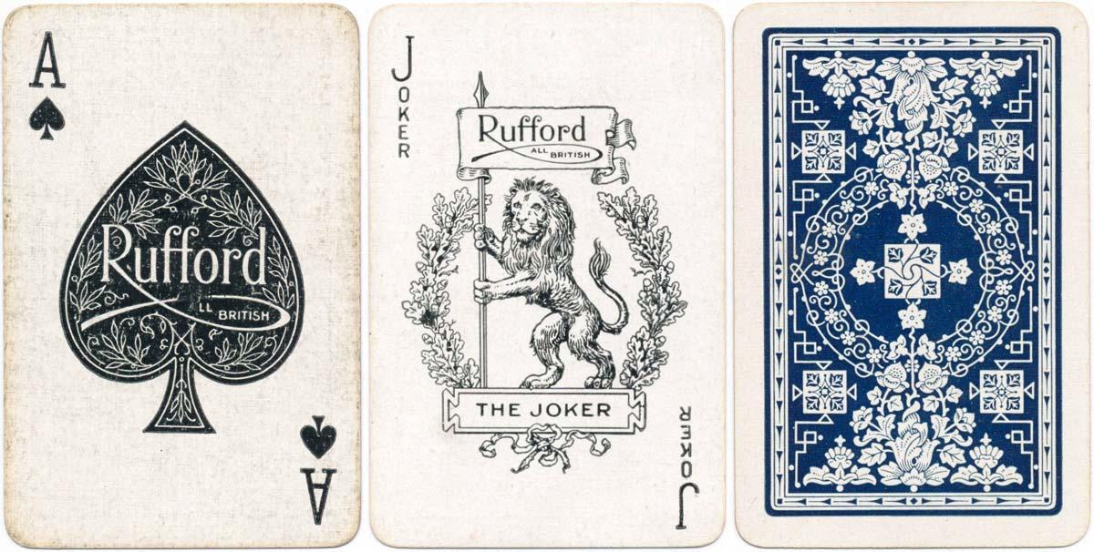 Rufford playing cards, De la Rue