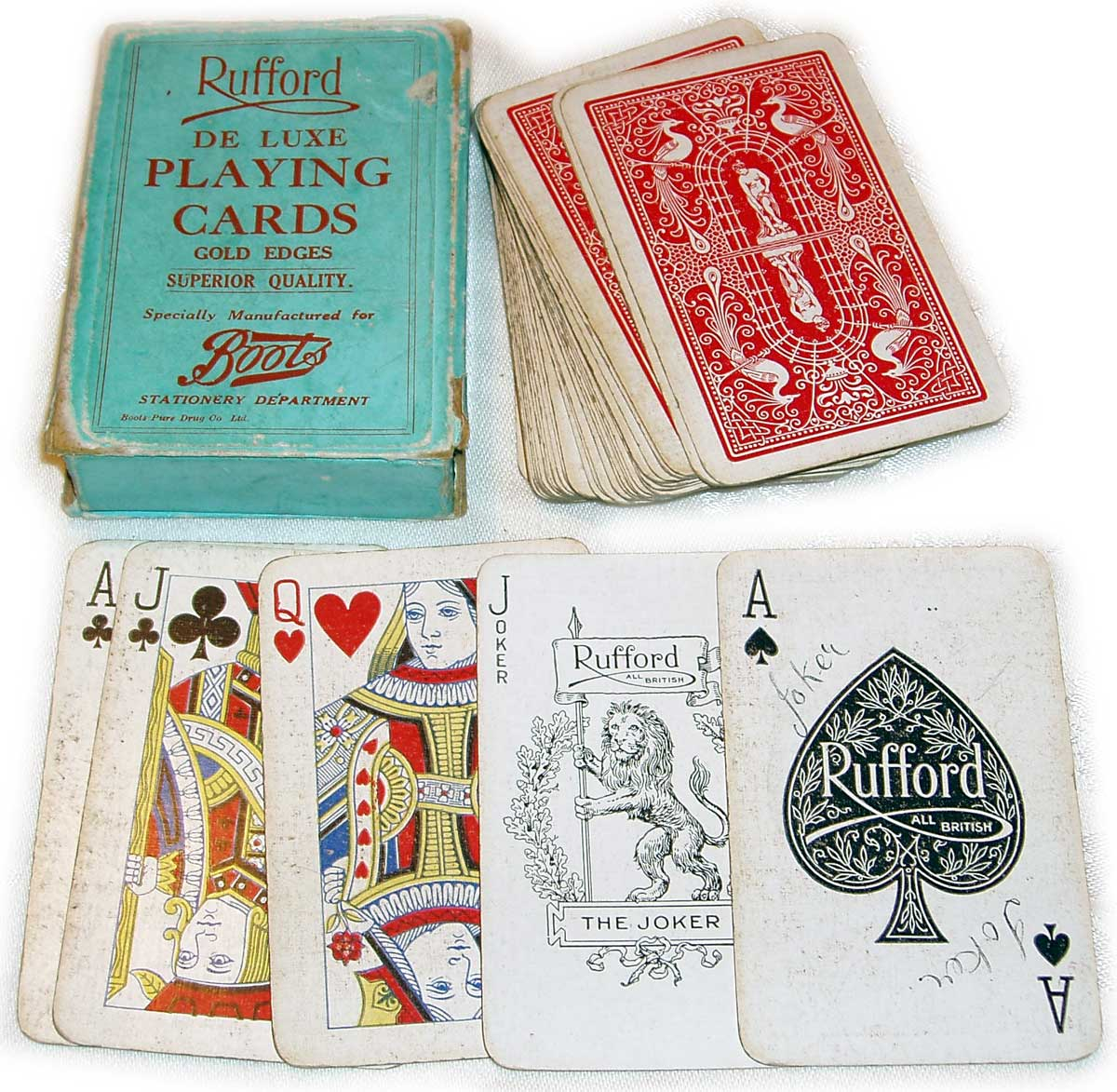 Rufford playing cards, De la Rue