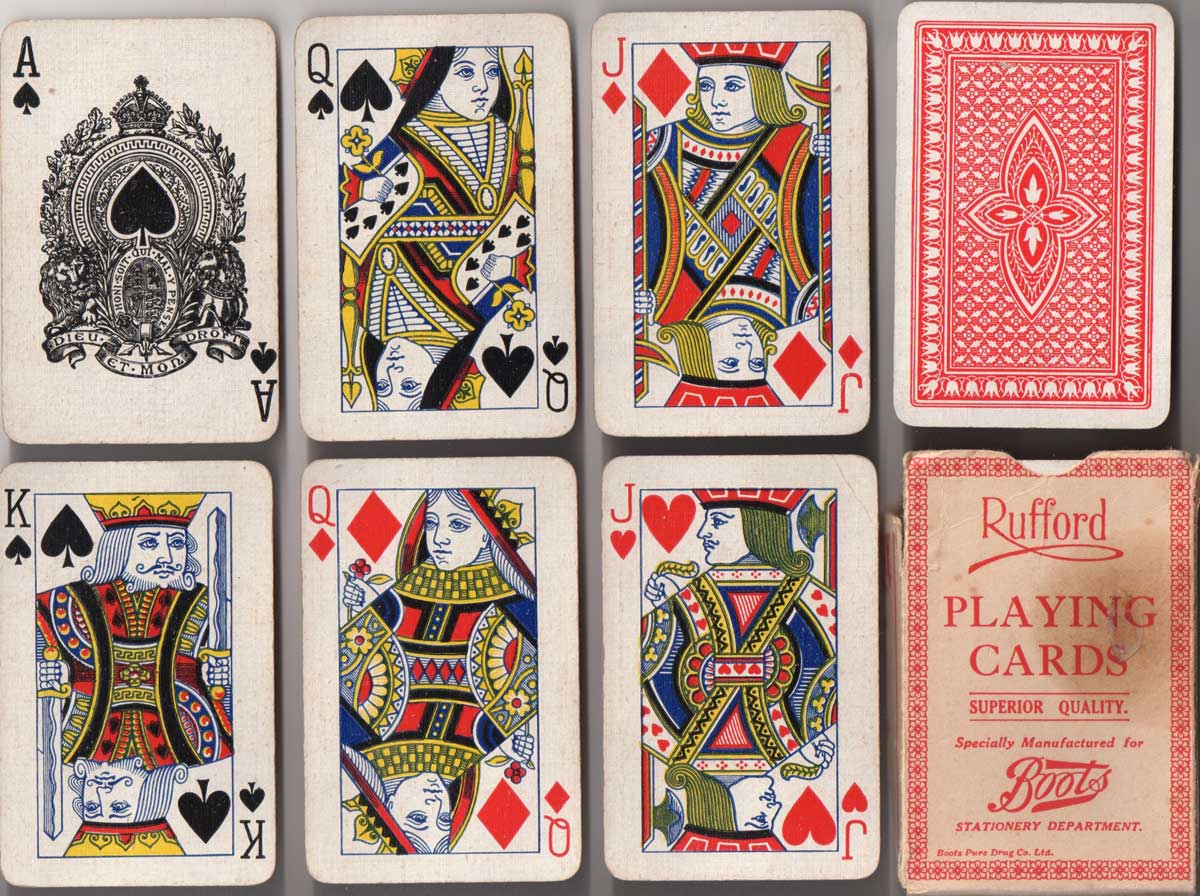 Rufford playing cards, 1926-30