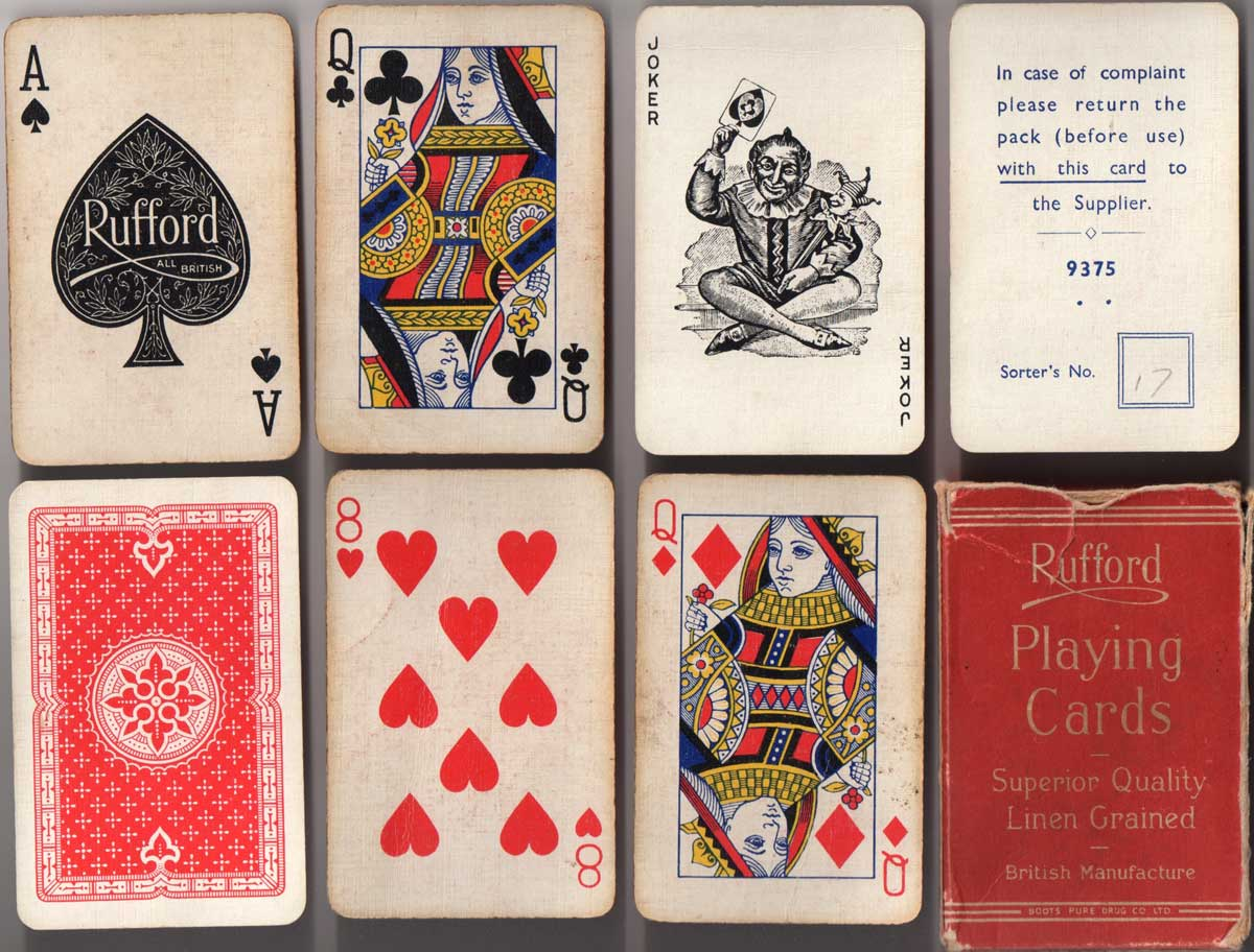 Rufford playing cards, c.1946