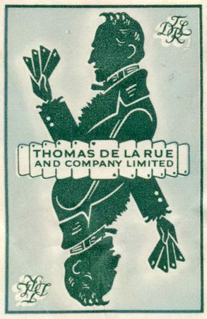Thomas De la Rue & Co security stamp, 1950s