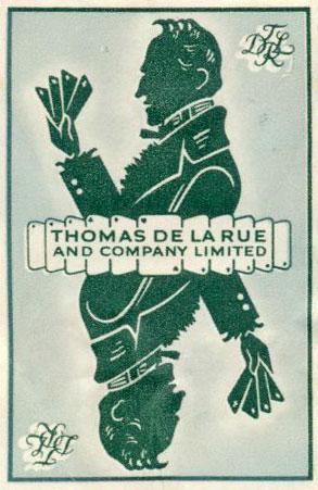 Thomas De la Rue & Co security stamp, 1950s