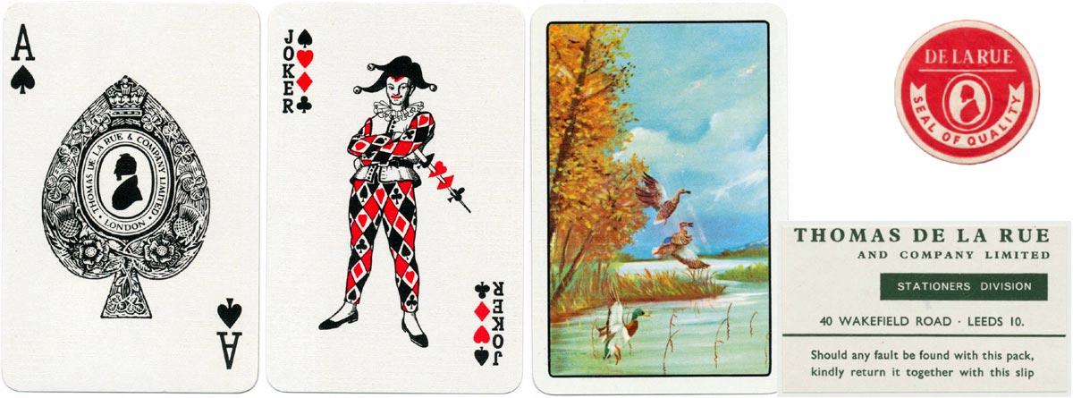 De la Rue's silhouette ace of spades with a white collar, c.1965-69