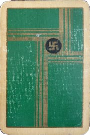 Swastika design playing cards by De La Rue, c.1925