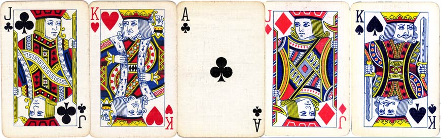 Swastika design playing-cards by De La Rue, c.1925