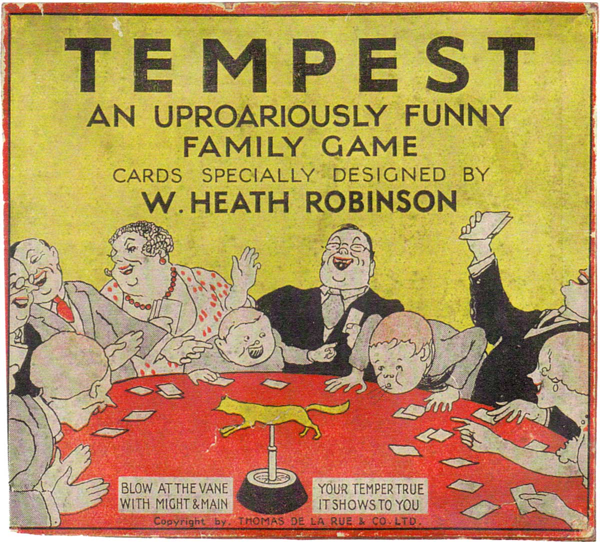 The box from Tempest published by Thomas de la Rue & Co. Ltd, c.1920s