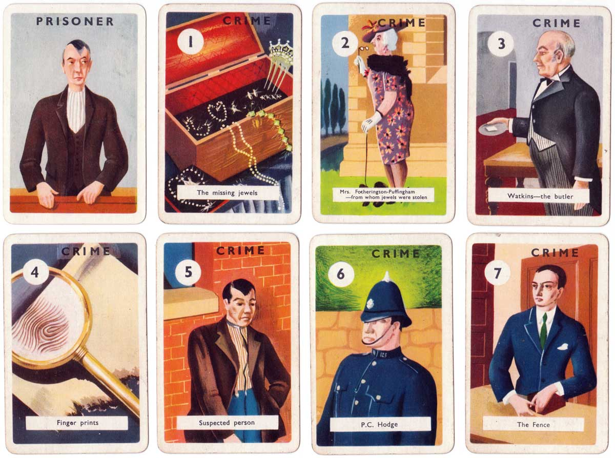 """Alibi"" the thrilling card game by Productions, 1930s"