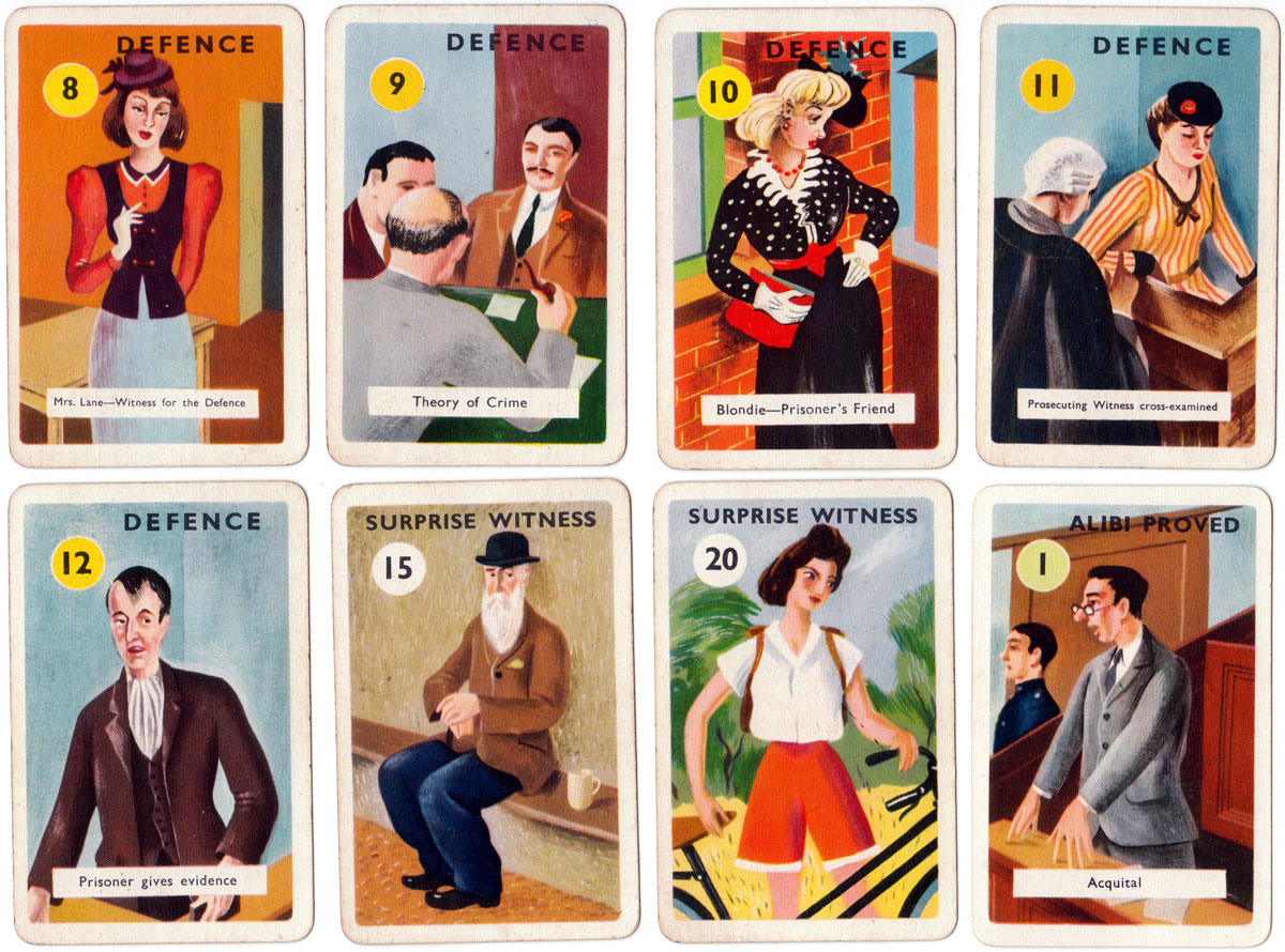 """Alibi"" the thrilling card game by Haytor, Tor Productions, 1930s"