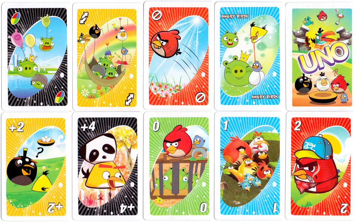 Angry Birds UNO manufactured in China, 2003
