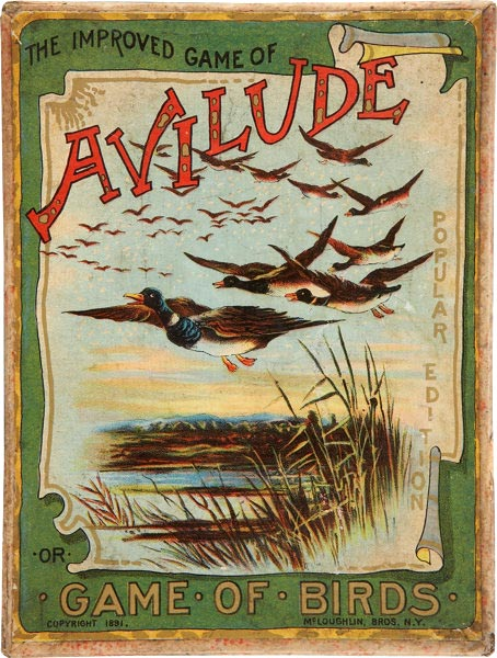 Box from 3rd edition of Avilude or Game of Birds