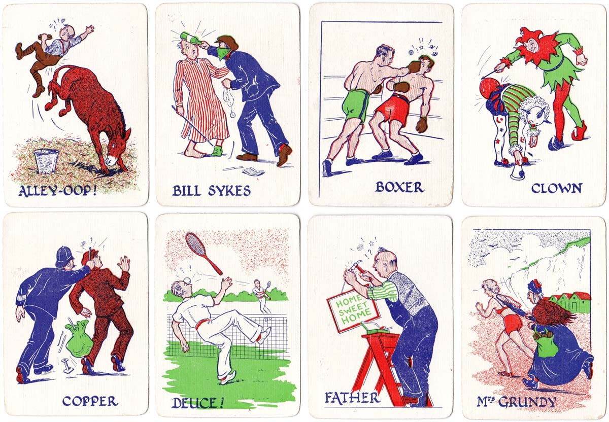 Biff! Bang!! Wallop!!! card game published by H.P. Gibson & Sons Ltd, 1939