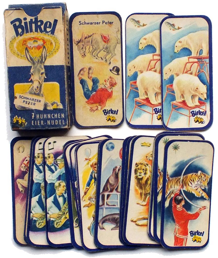 Birkel Schwarzer Peter Zirkus Kartenspiel, c.1950