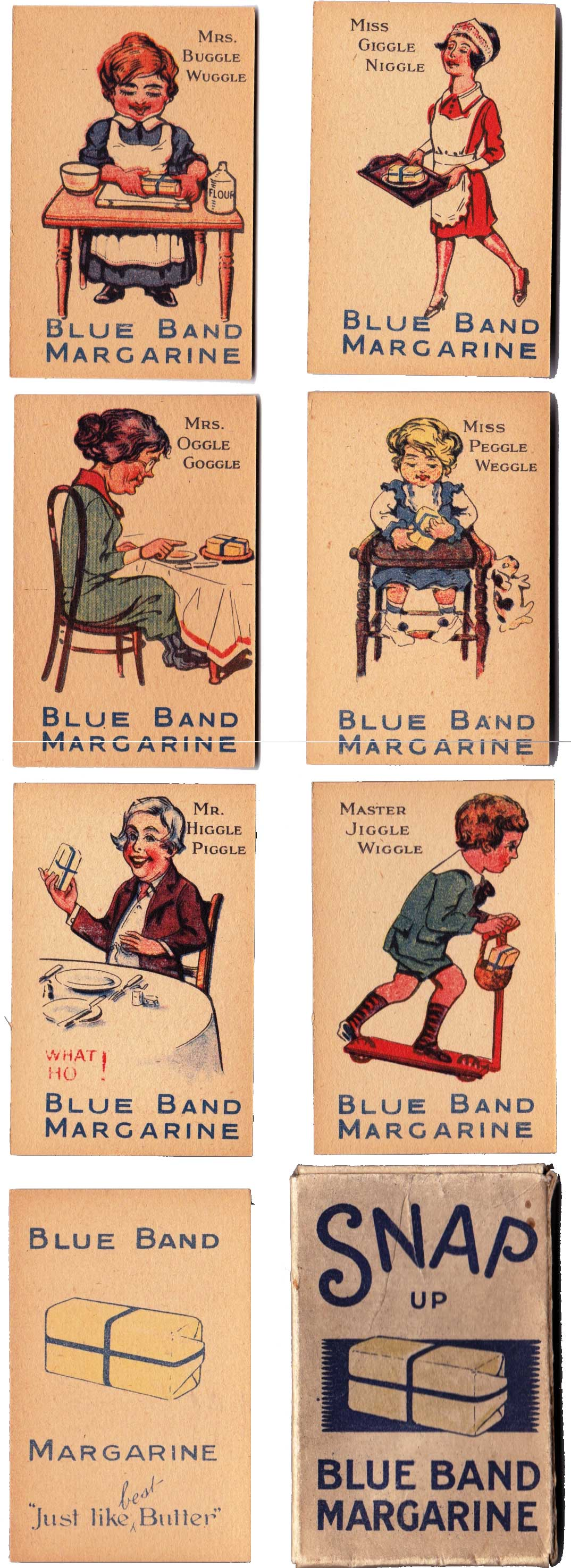 Blue Brand Snap Up published by Van den Berghs probably late 1920s