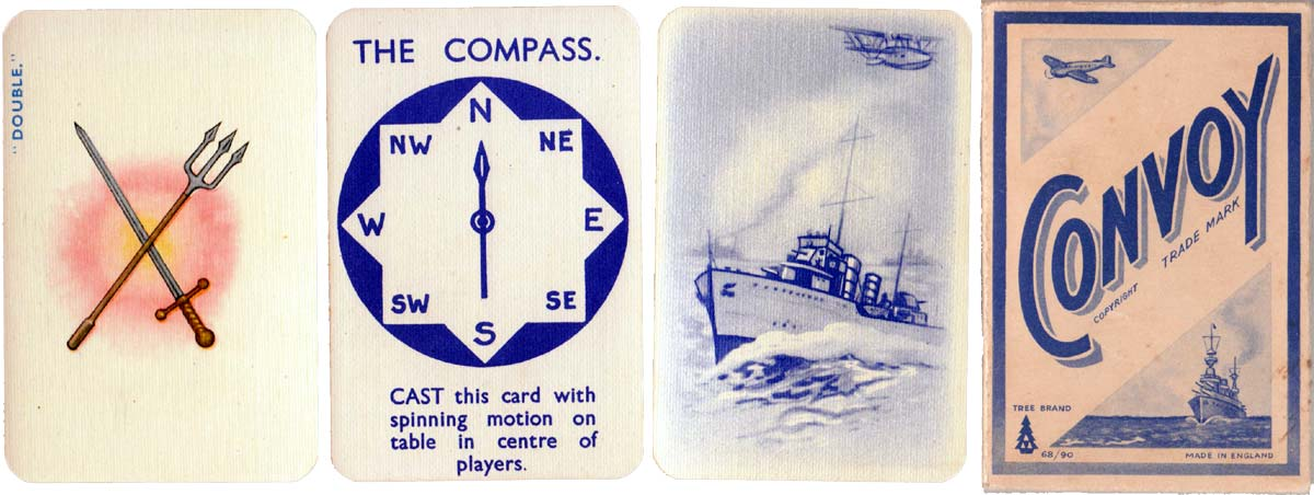 """Convoy"" WW2 card game published by Tree Brand c.1940"