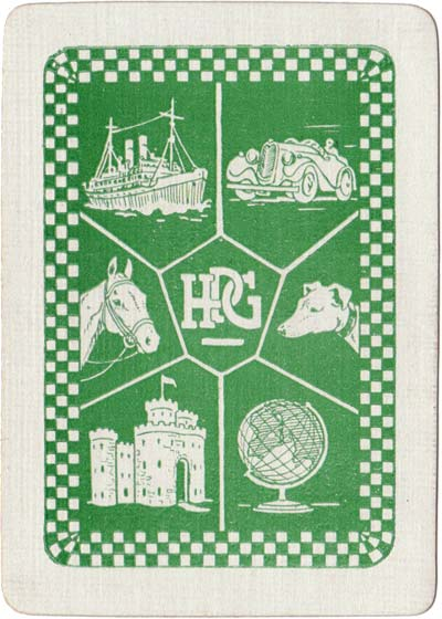 """Back design from """"Countries of the World"""" published by H.P. Gibson & Sons, Ltd, c.1939"""