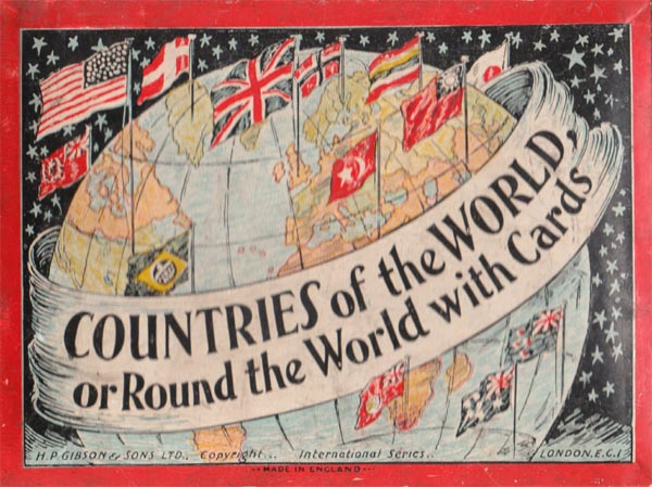 """Box from """"Countries of the World"""" published by H.P. Gibson & Sons, Ltd, c.1939"""