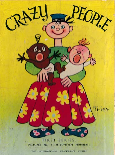 Crazy People children's card game illustrated by Walter Trier, c.1950