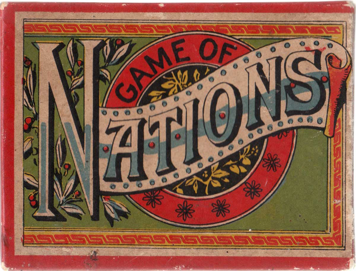 Box from the Game of Nations manufactured by McLoughlin Brothers, 1890s