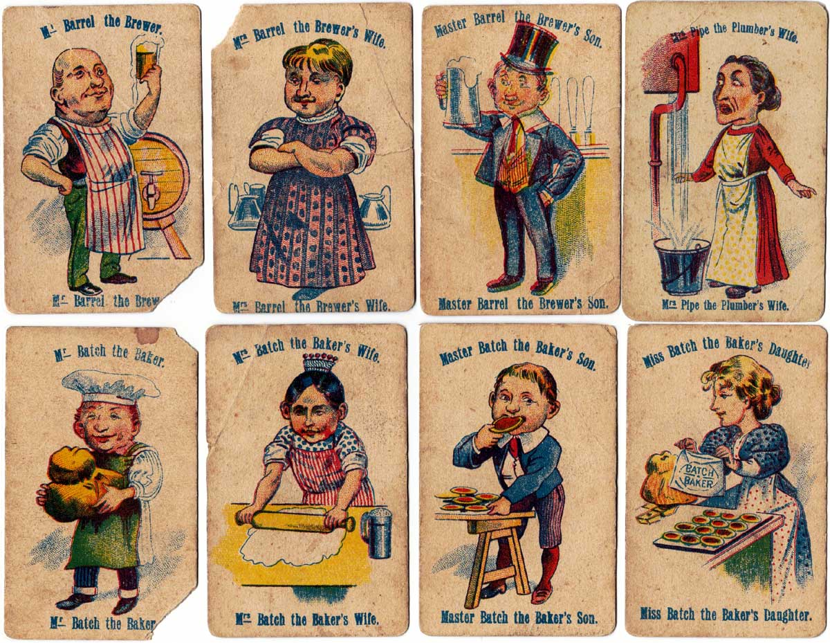 Happy Families card game published by Globe Series, c.1900
