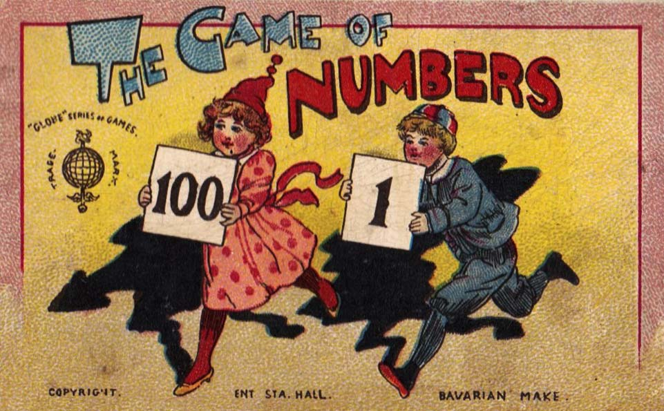 Sleeve from The Game of Numbers published by Globe Series (UK), c.1900