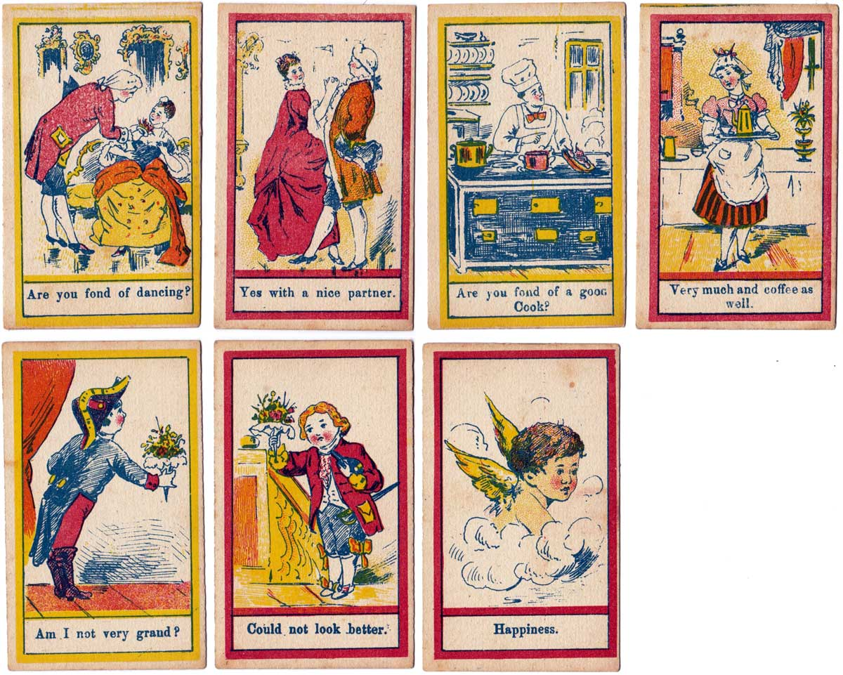 Questions and Answers card game by Globe Series, c.1900