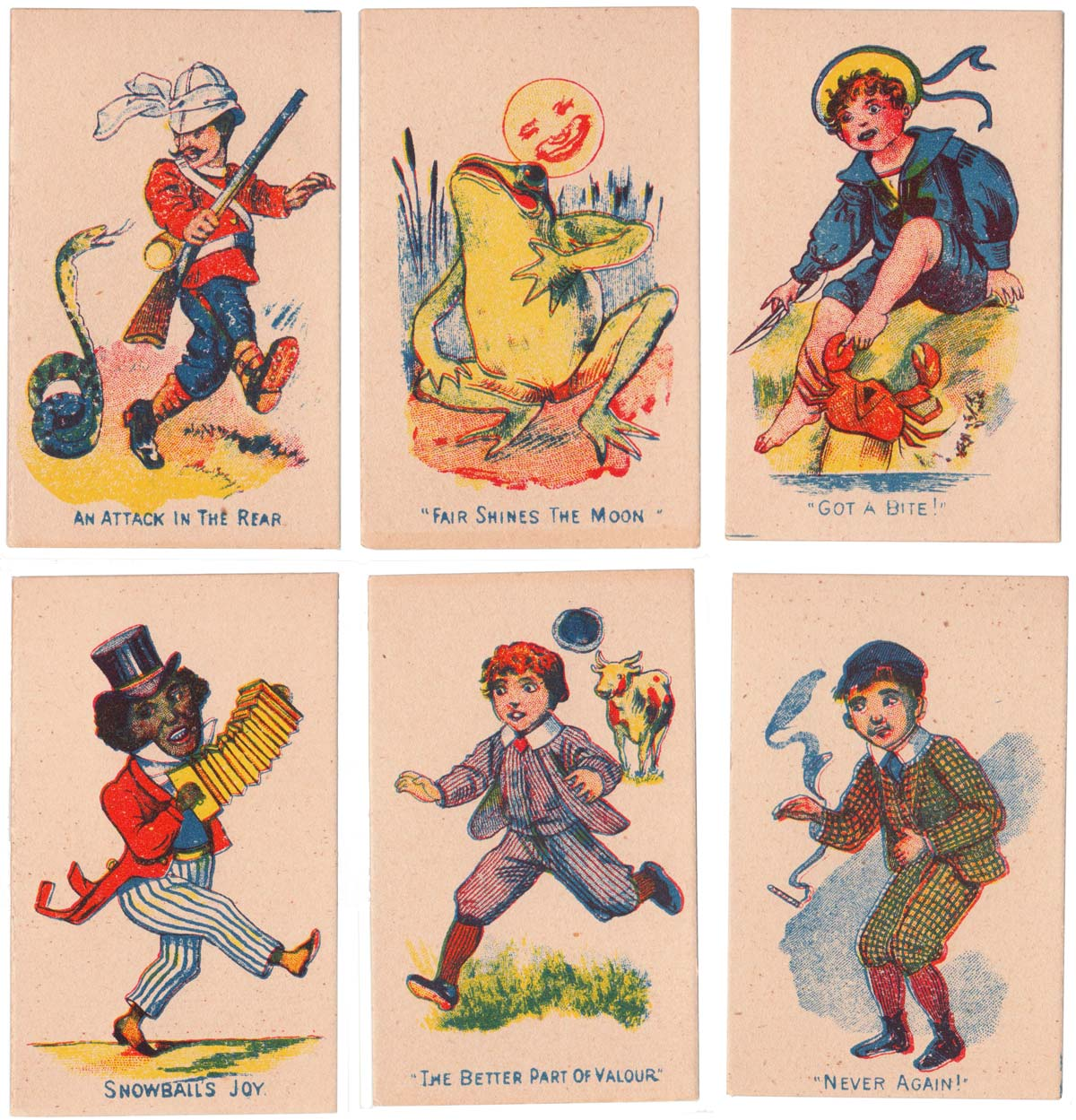 Snap card game published in UK by Globe (Oppenheimer und Sulzbacher), late 19th century