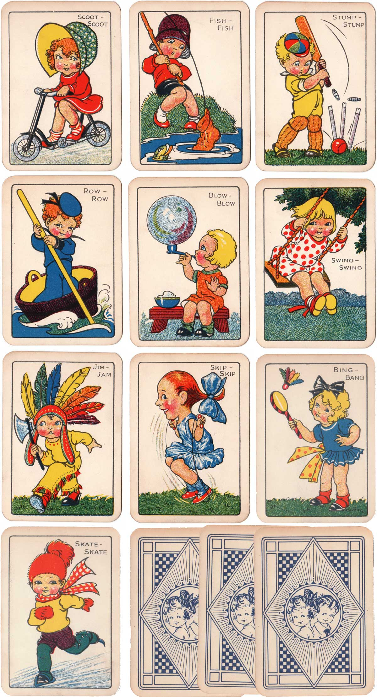 Snap card game produced in Germany by Oppenheimer und Sulzbacher, 1920s