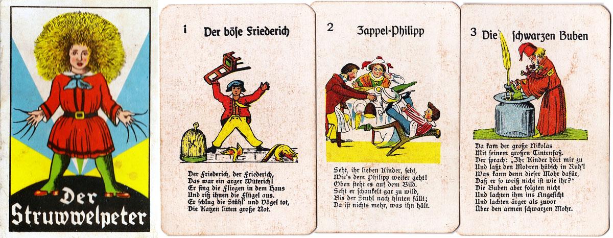 Struwwelpeter card game produced by Oppenheimer und Sulzbacher