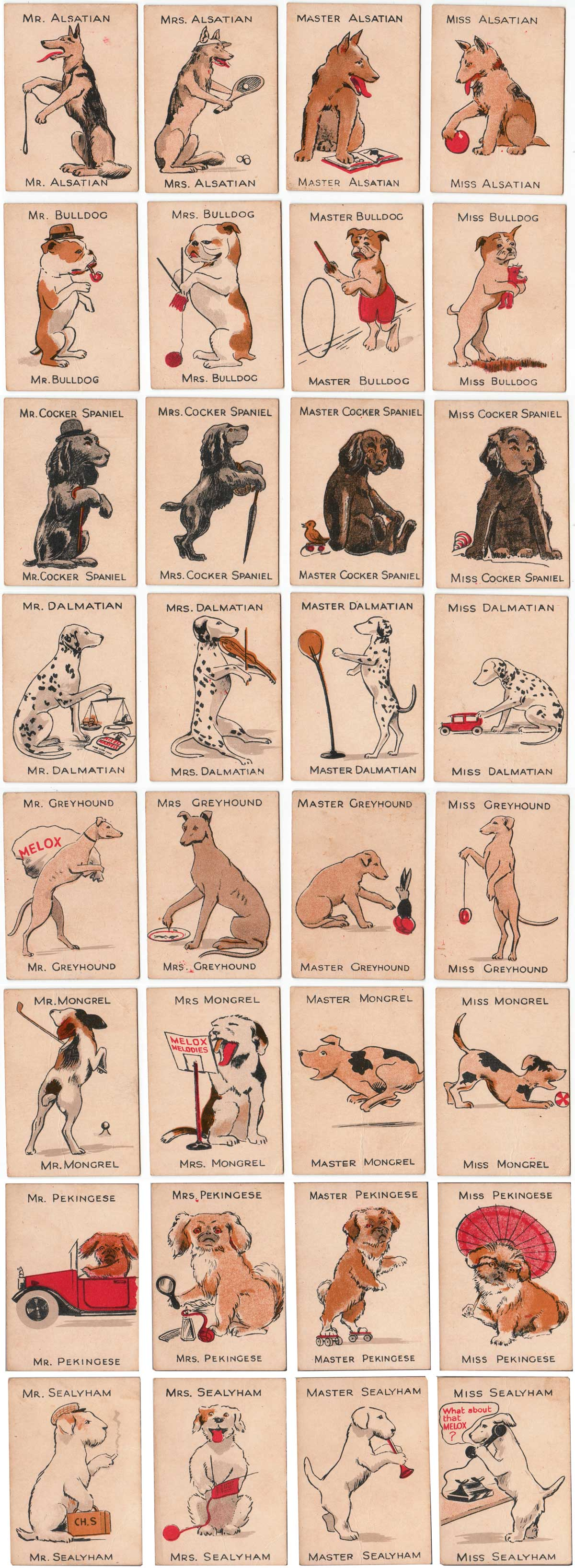 """The """"Game of Happy Melox Families"""" published by w G Clarke & Son, London, 1929"""