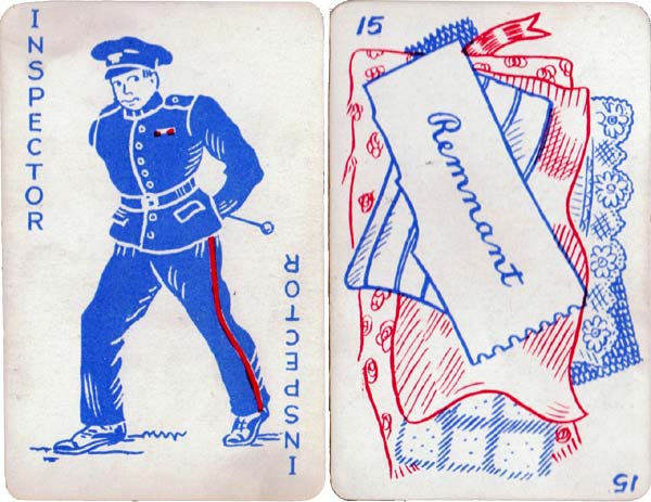Inspector card game published by W F Jackson & Sons, 1940s