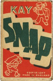 Kay Snap Card Game box, Made in England, 1930s