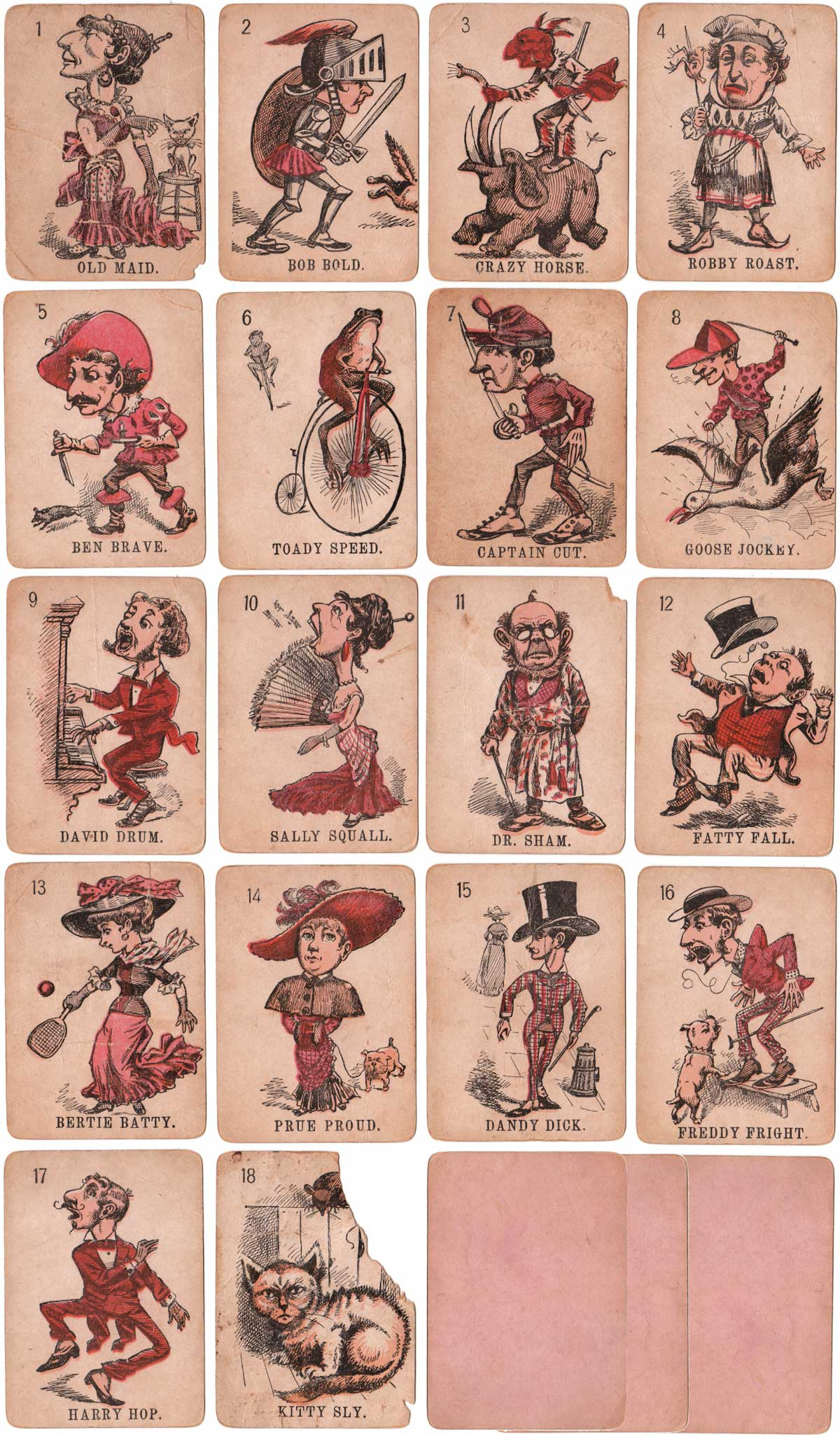 The Merry Game of Old Maid published by McLoughlin Brothers, c.1880s